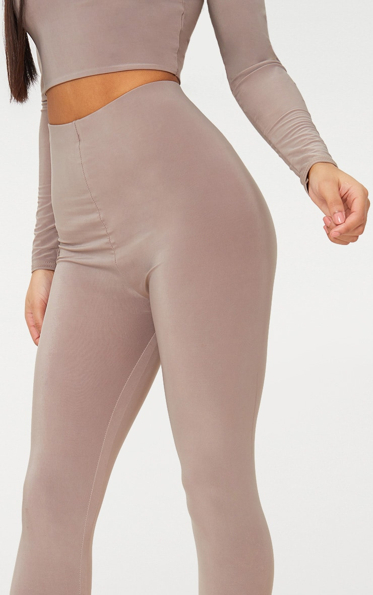 Taupe Slinky Cropped Leggings 5