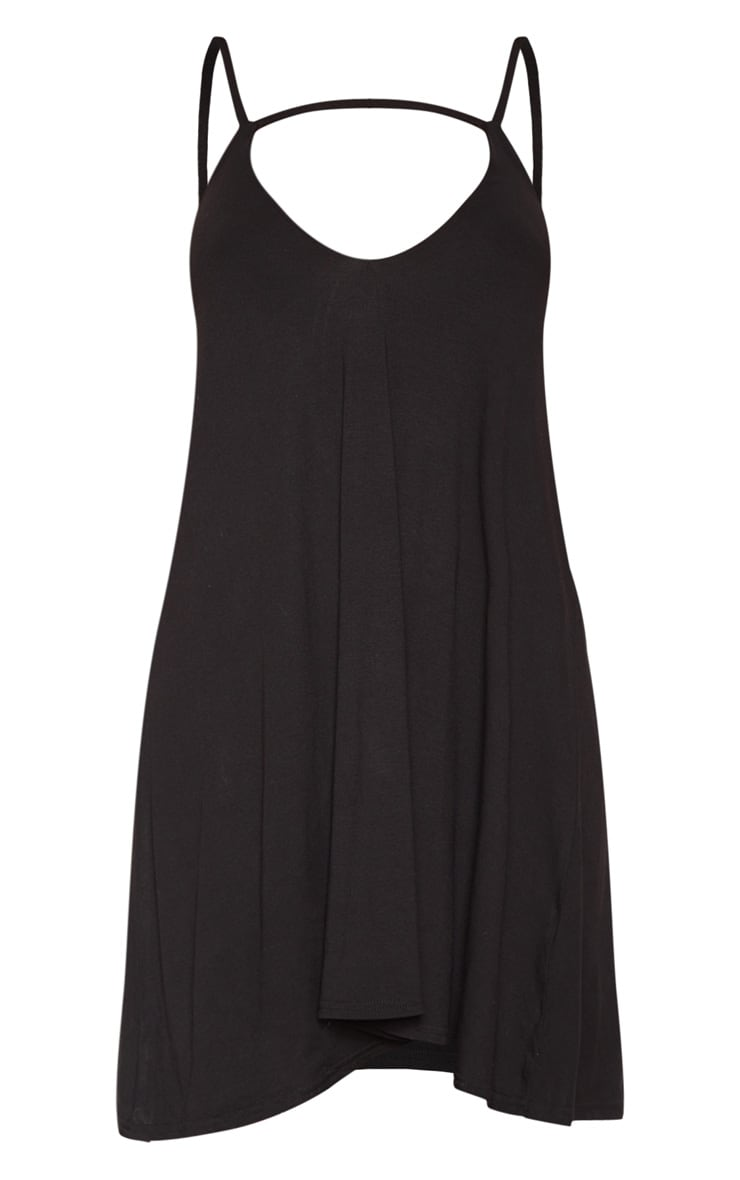 Black Strappy Cut Out Swing Dress 3