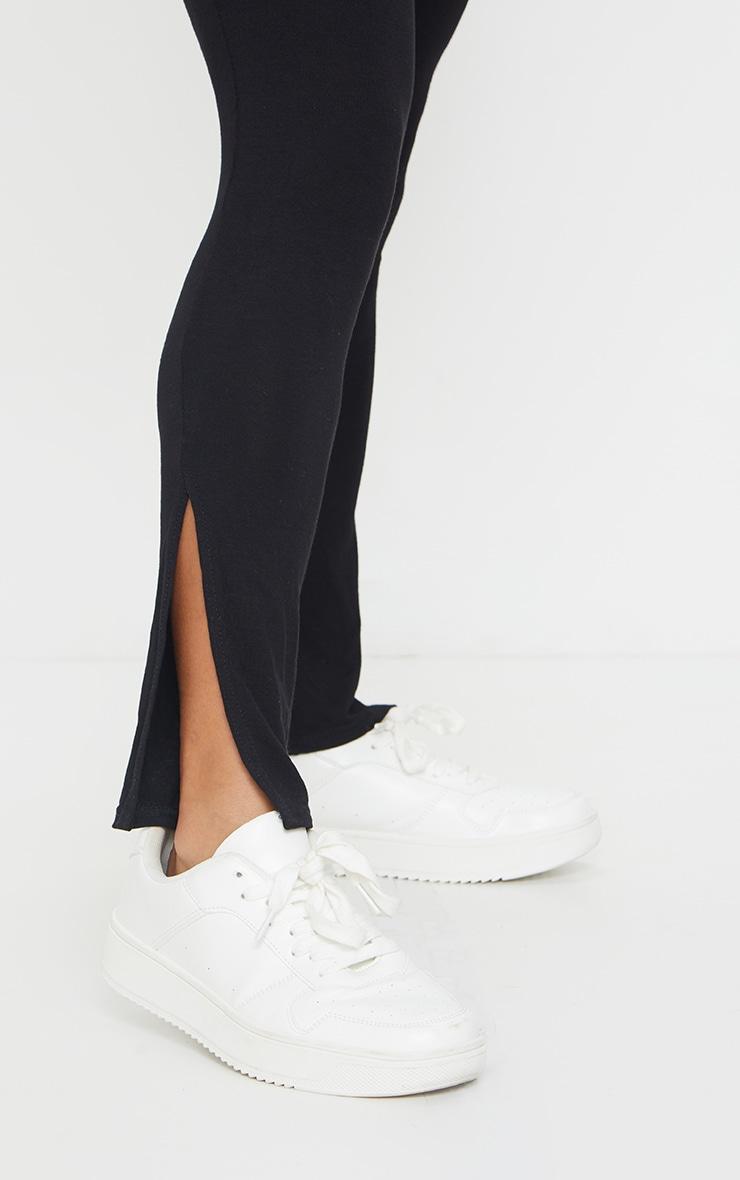 Petite Black Sleeveless Jersey Split Hem Jumpsuit 4