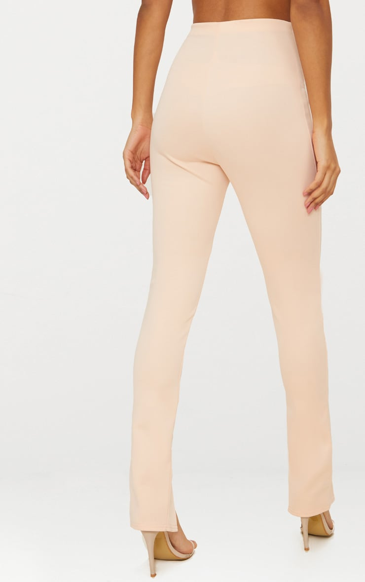 Nude High Waisted Split Hem Detail Trouser 4