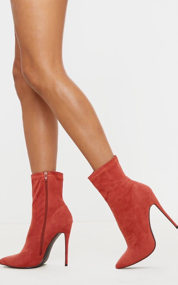 Rust High Point Stiletto Sock Boot 2