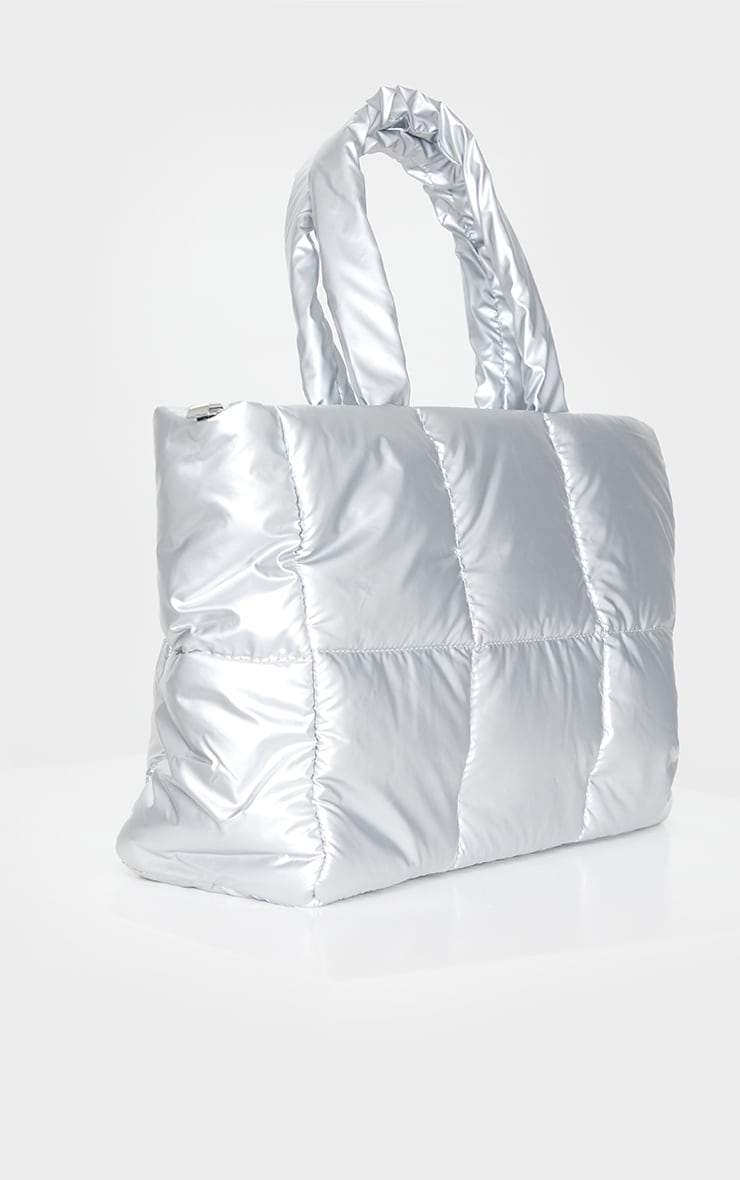 Silver Padded Tote Bag 3