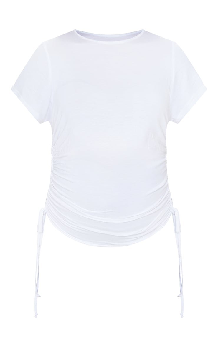 Maternity White Ruched Bump T Shirt 5