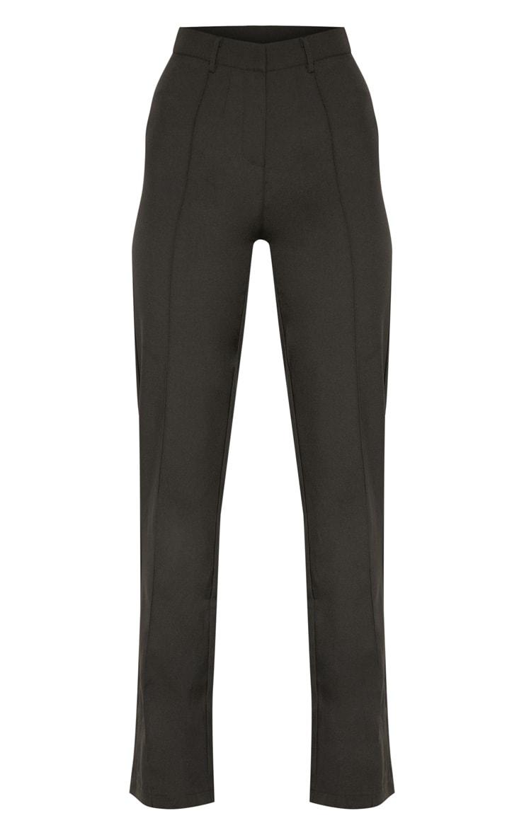 Anala Black High Waisted Straight Leg Trousers 3