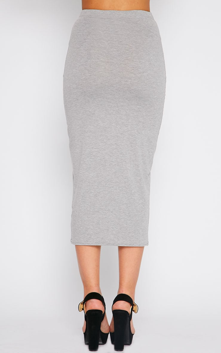 Basic Grey Longline Midi Skirt 4