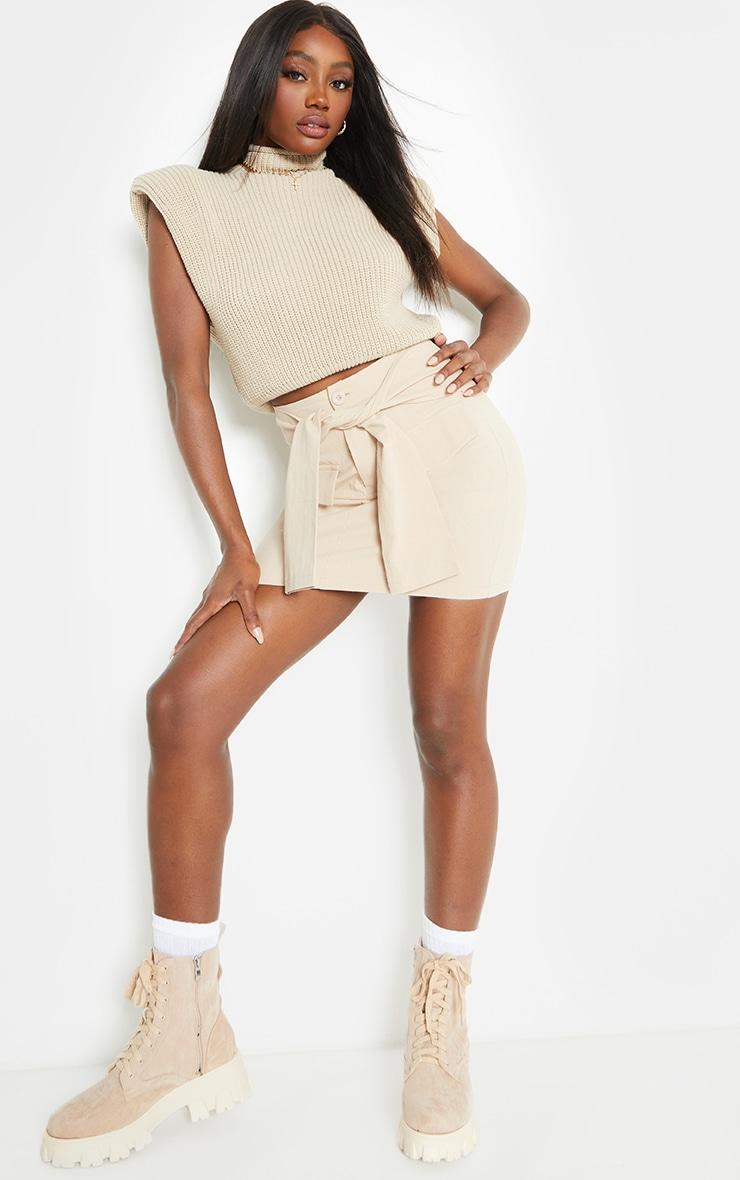 Stone Cargo Extreme Tie Mini Skirt 4