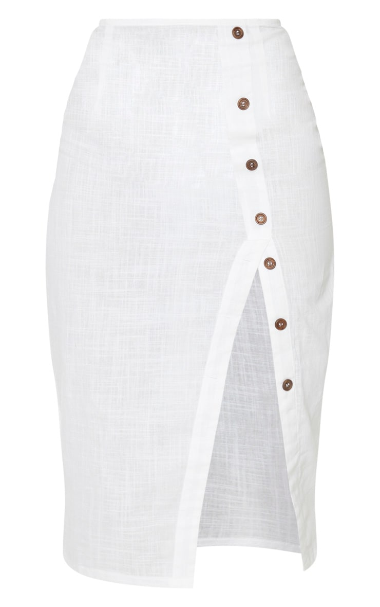 White Button Down Beach Skirt 3