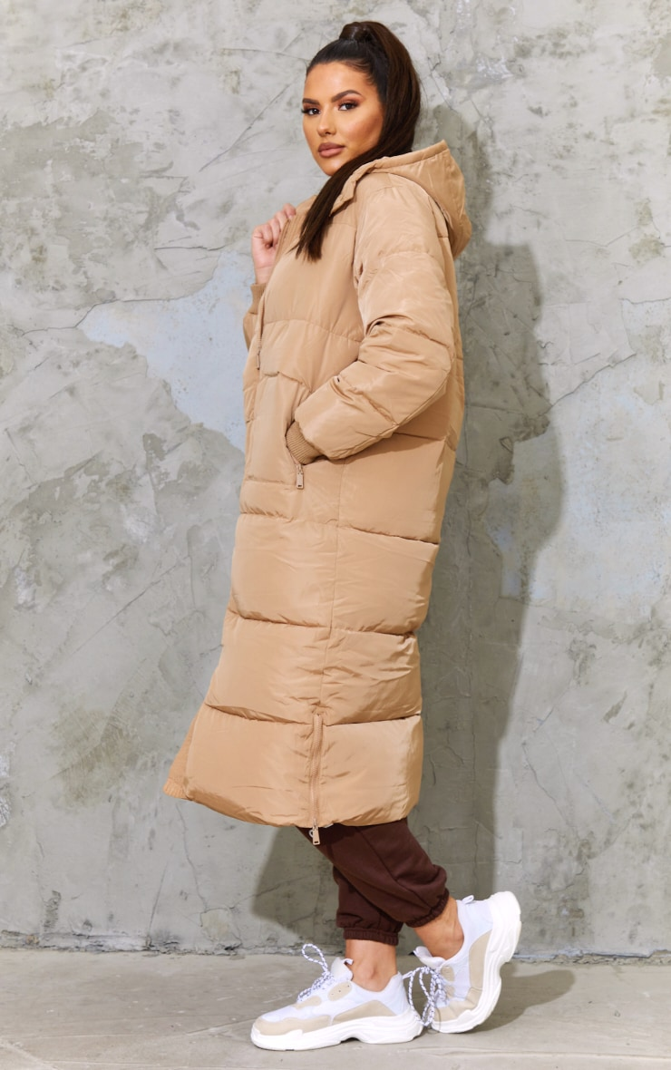 Tall Stone Maxi Hooded Puffer 3