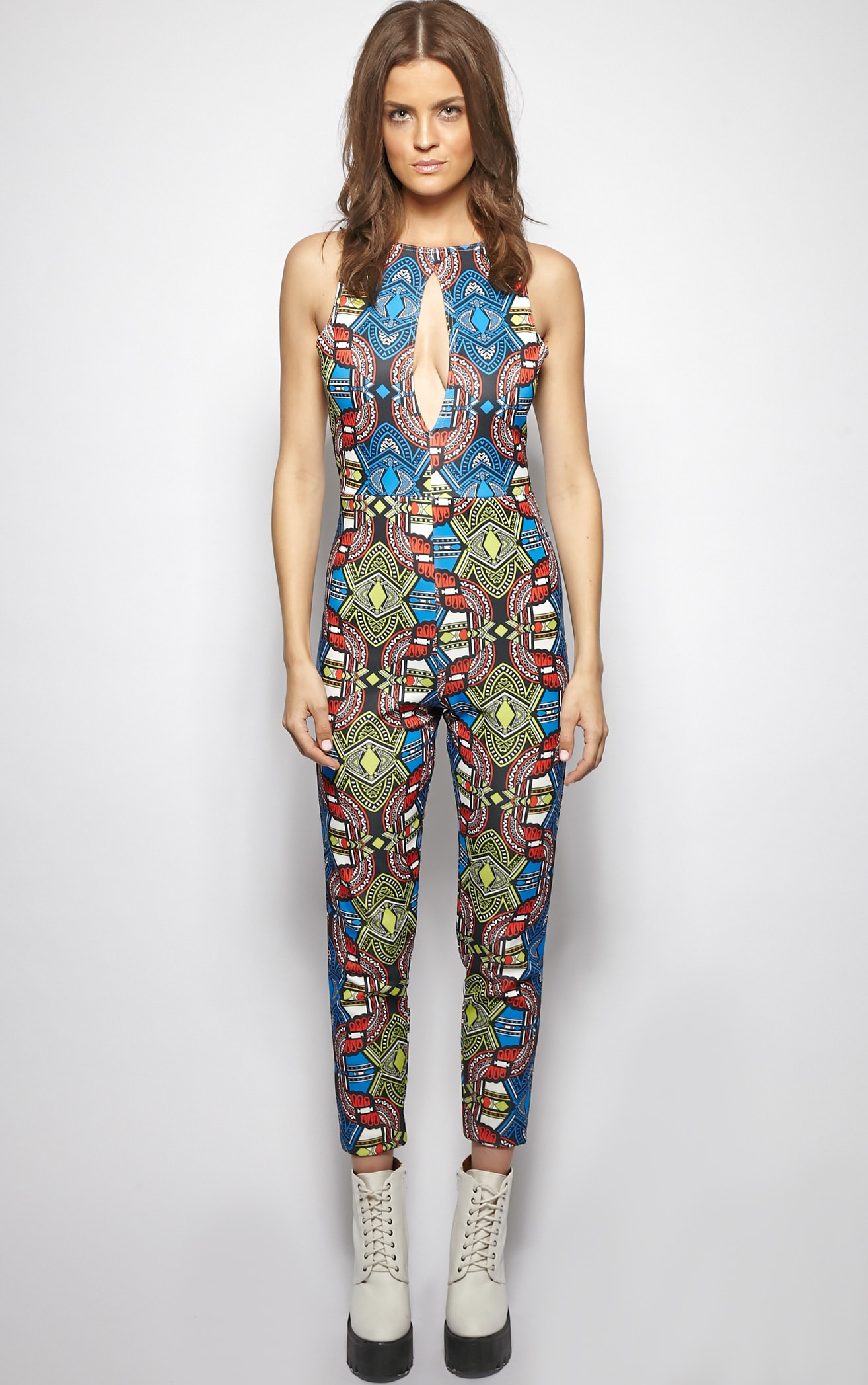Callie Abstract Aztec Print Jumpsuit 1