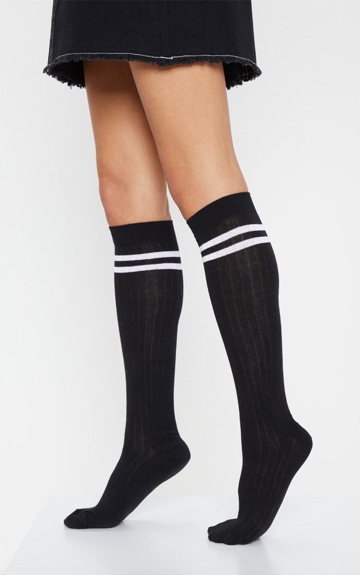 Black Knee High Referee Socks 2