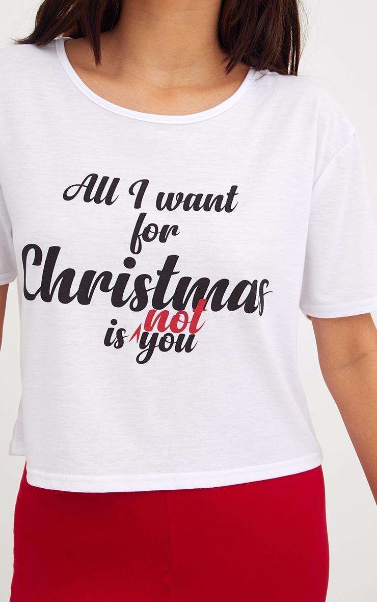 White All I Want For Christmas Long Leg PJ Set 5