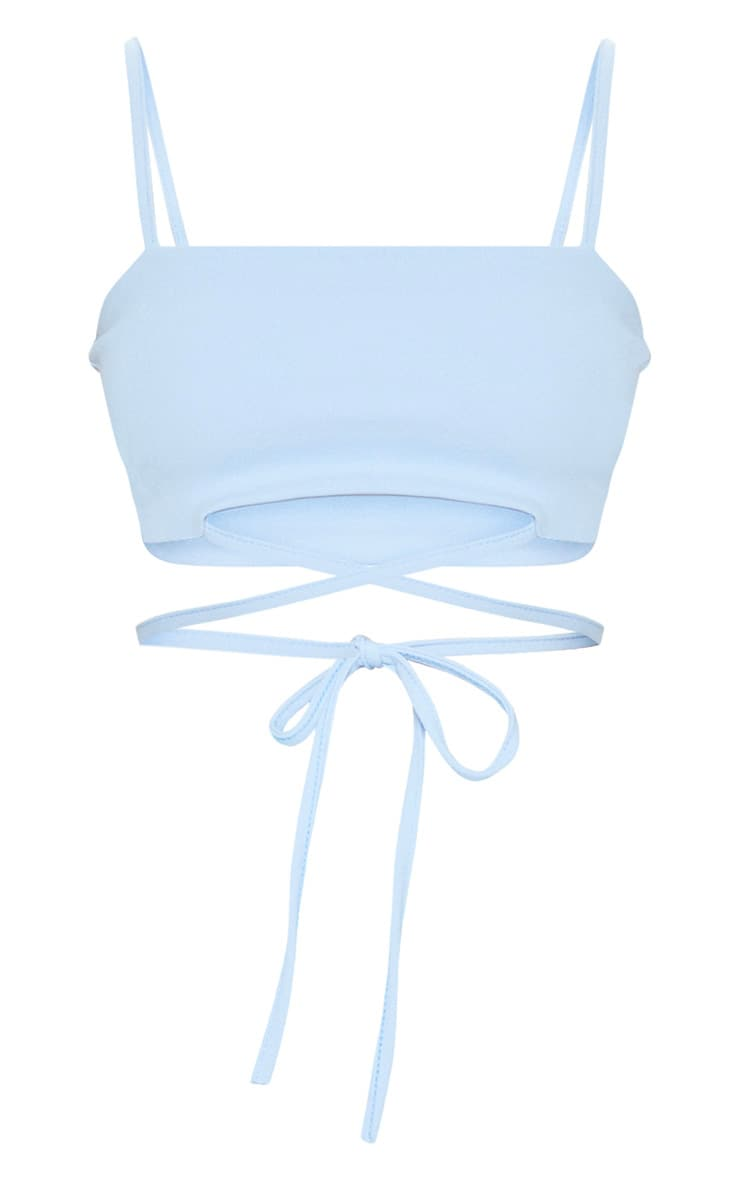 Baby Blue Strap Crop Top 3