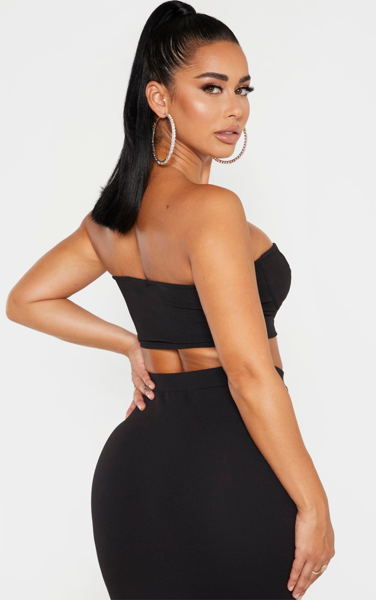 Shape Black Cup Detail Crop Top 2