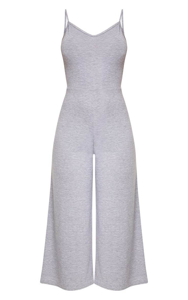 Kailyn Grey Jersey Culotte Jumpsuit 3