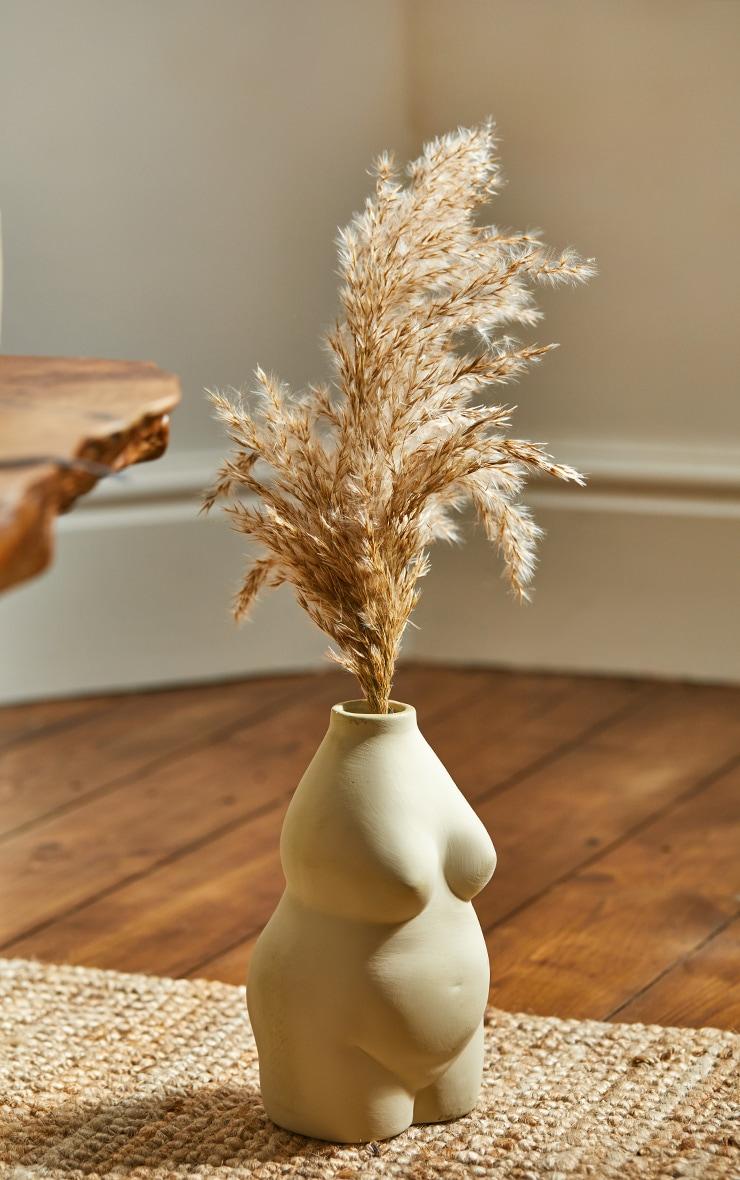 Stone Curvy Body Vase 1