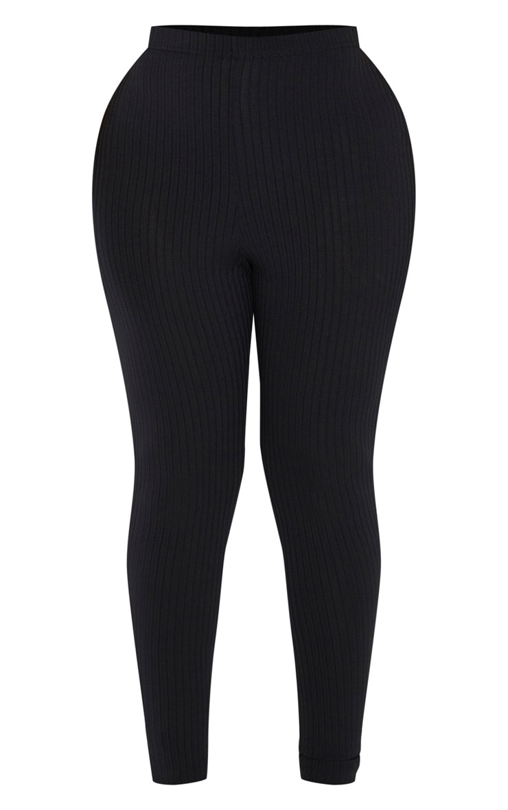 Shape Black Ribbed Legging 3