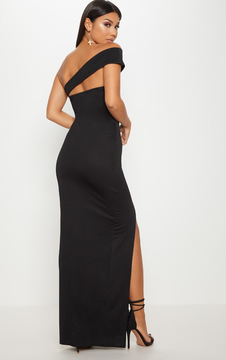 Black Cross Strap Detail Maxi Dress 2