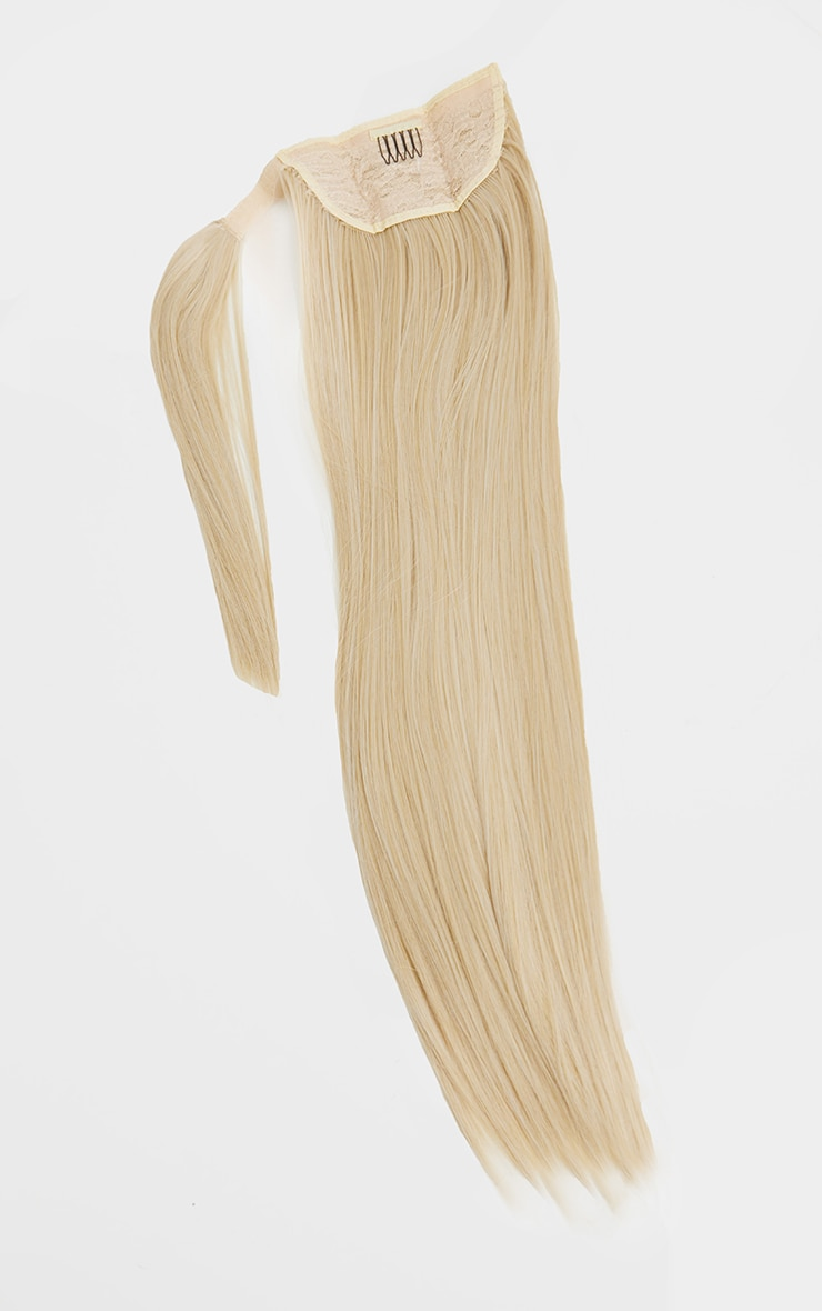 LullaBellz Grande Lengths 26 Straight Pony Extensions Light Blonde 5