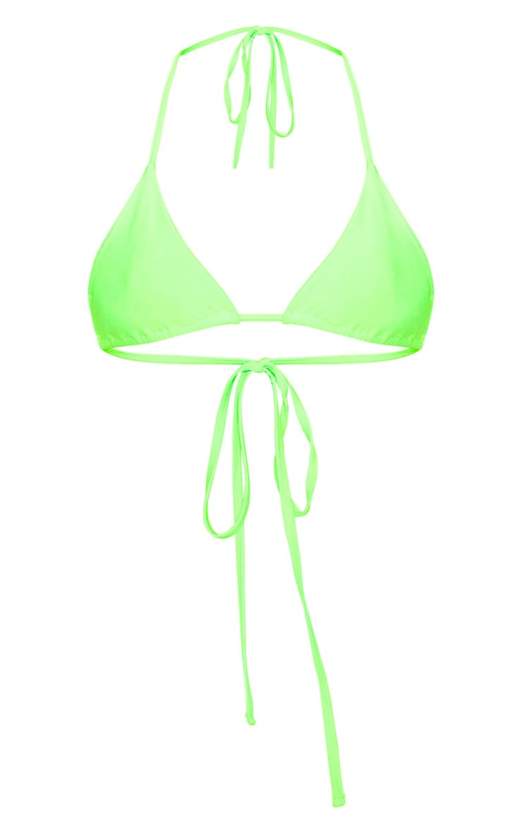 Lime Mix & Match Triangle Bikini Top 4