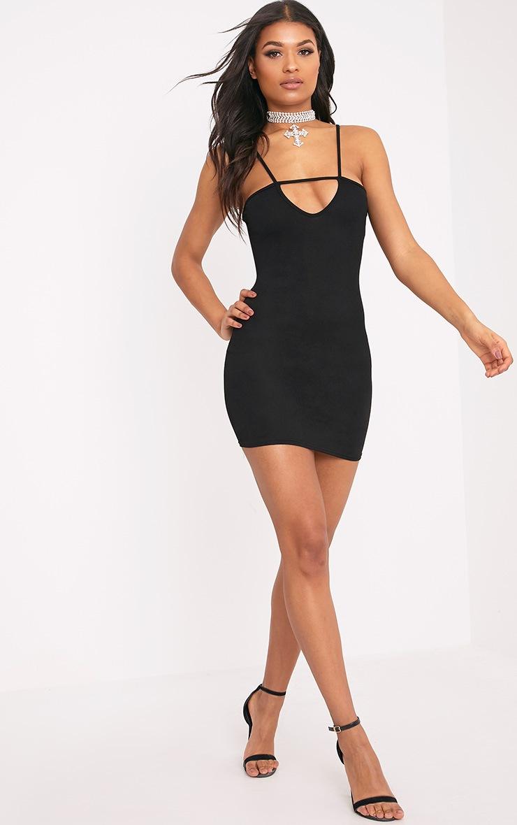 Fern Black Cut Out Detail Bodycon Dress 3