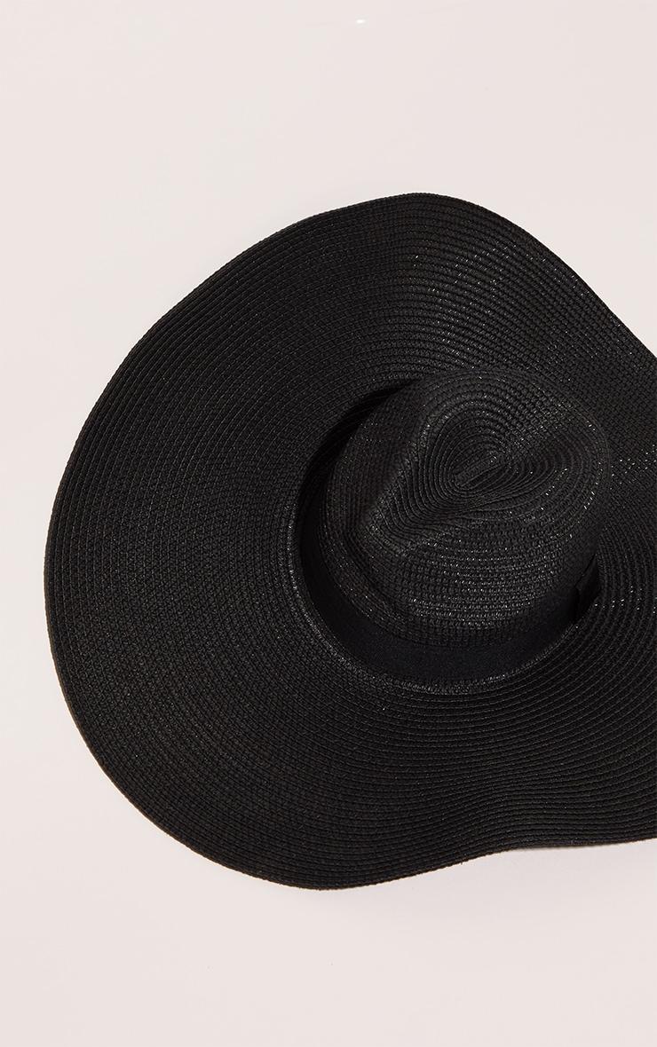 Black Wide Band Oversized Fedora 2