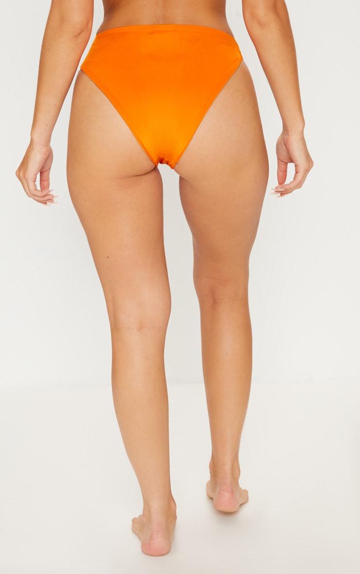 Orange Knotted Bikini Bottom 4