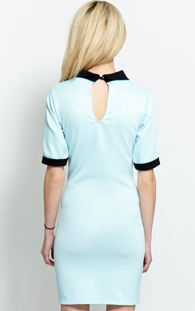 Katrina Baby Blue Collar Dress 2
