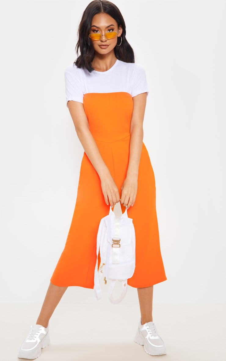 Orange Bandeau Culotte Jumpsuit 4