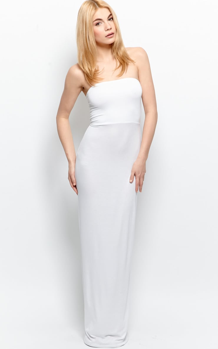 Albany White Bandeau Maxi Dress 3