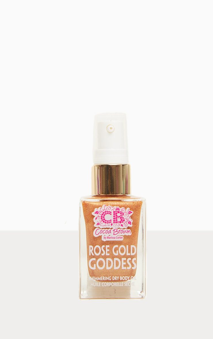 Cocoa Brown - Huile sèche rose gold Goddess Shimmering - 30 ml 2