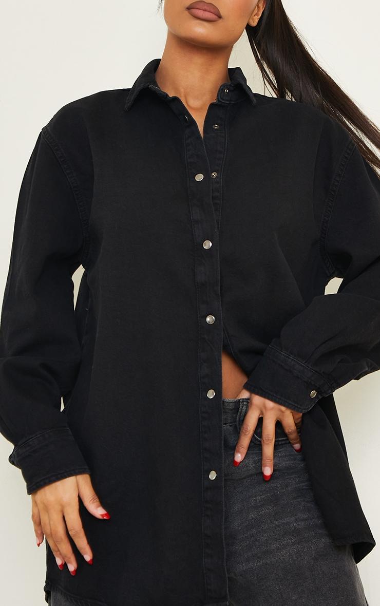 Black Oversize Dad Shirt 4
