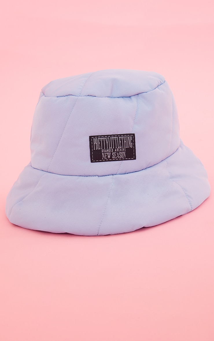 PRETTYLITTLETHING Baby Blue Quilted Bucket Hat 2