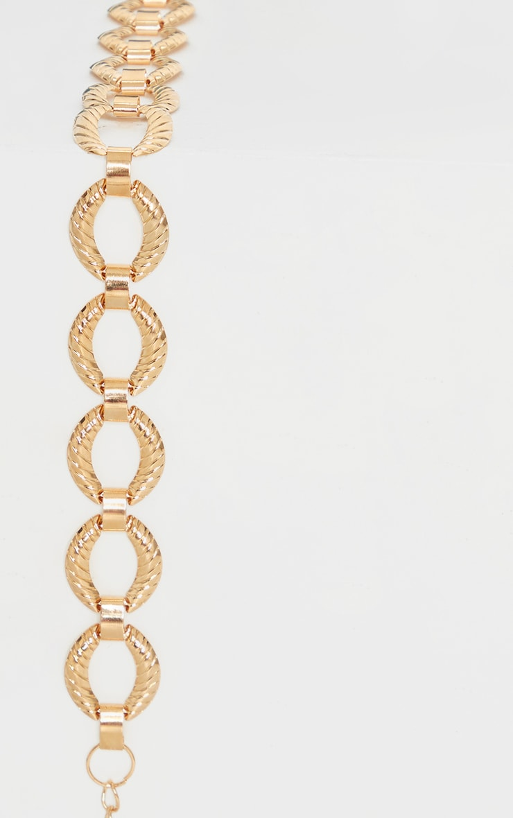 Gold Chunky Round Link Chain Belt 2