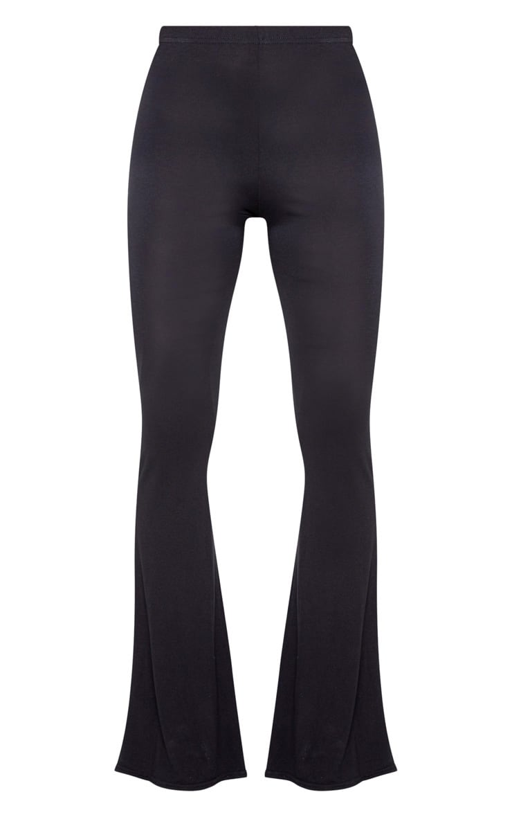 Black Jersey Flared Trousers 5