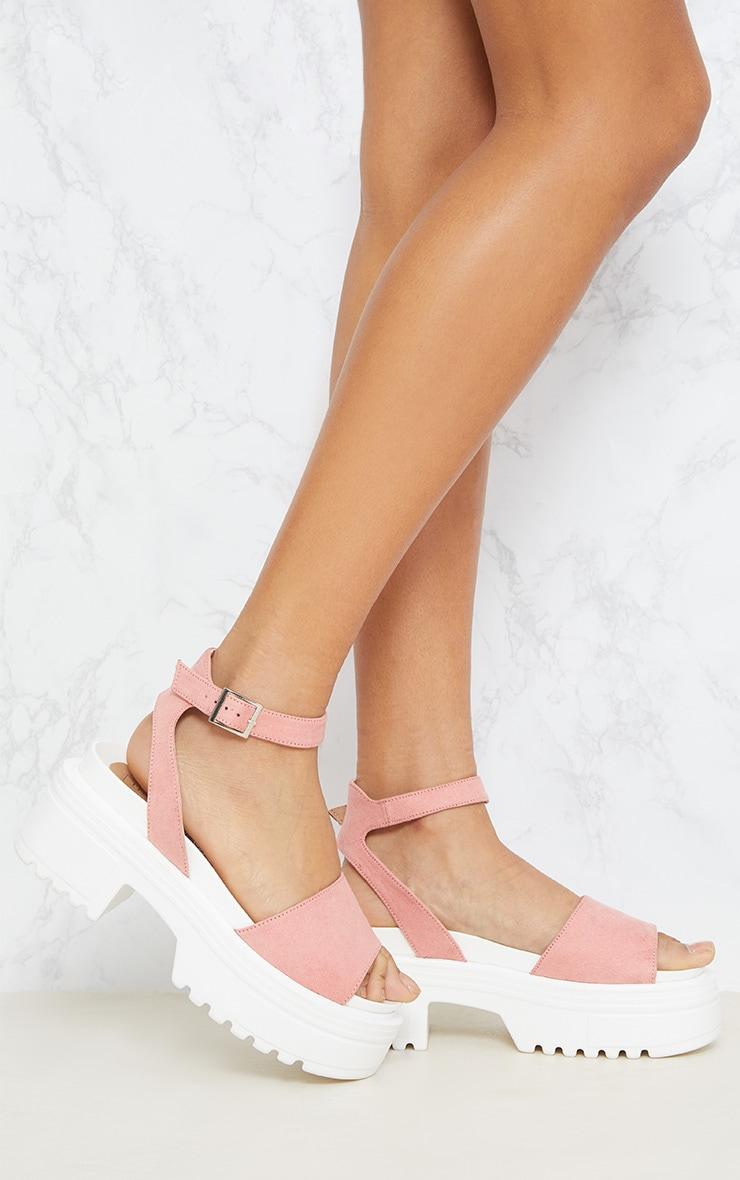 Pink Chunky Sandal 1