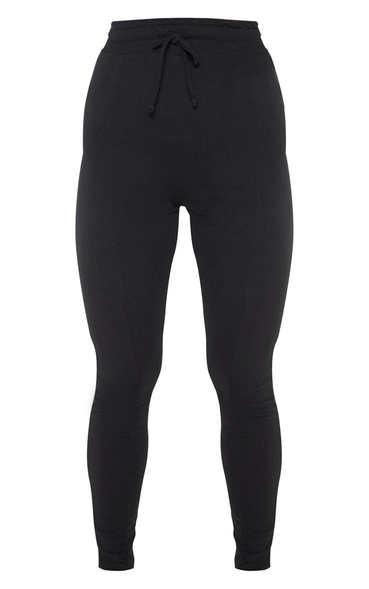 Black Seam Detail Sweat Legging 3