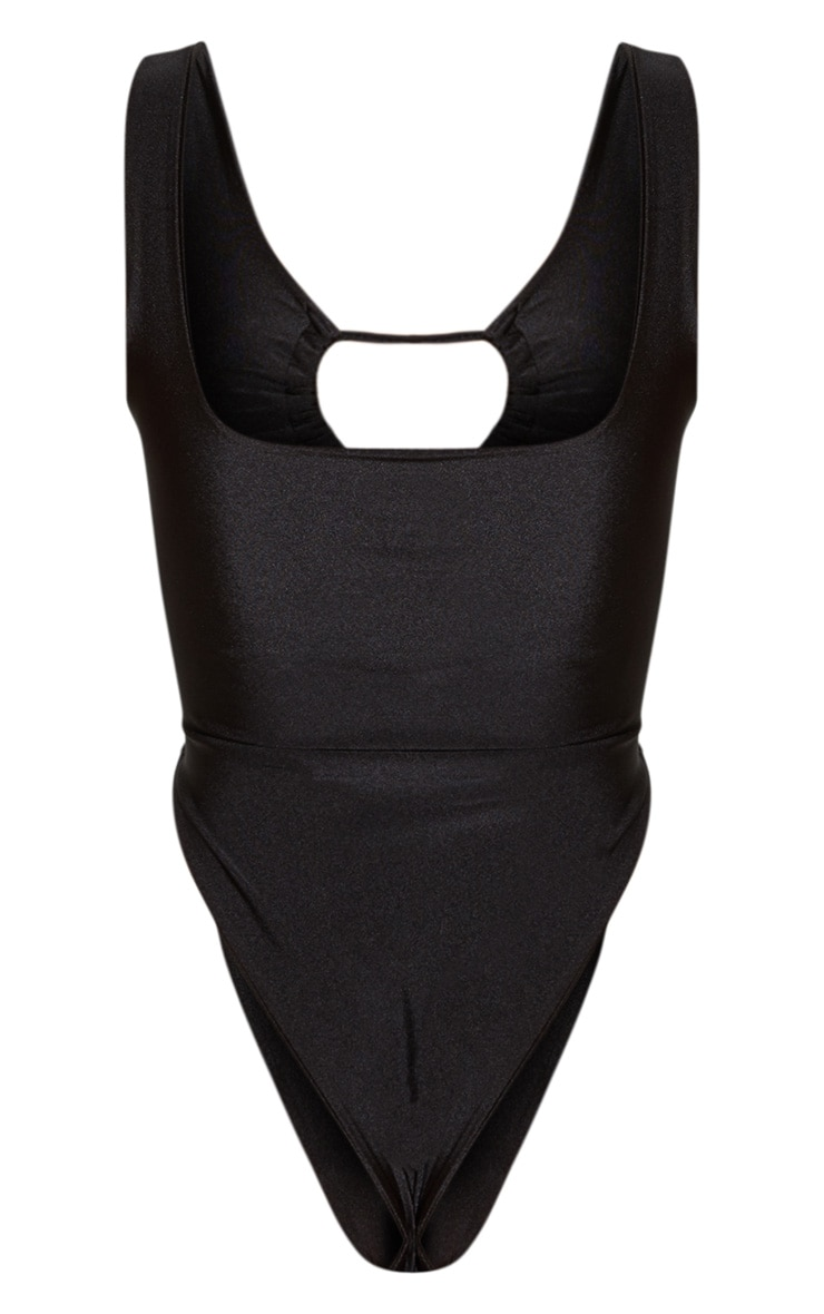 Black Cut Out Adjustable String Swimsuit 8