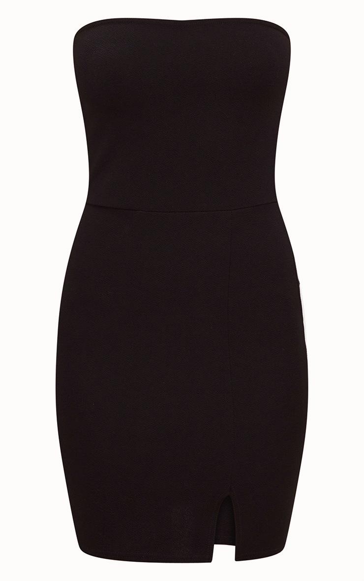 Layala robe moulante bandeau détail fente noire 3