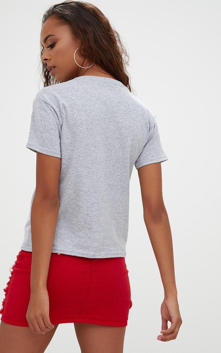 Petite Grey Hello Slogan T-Shirt 2