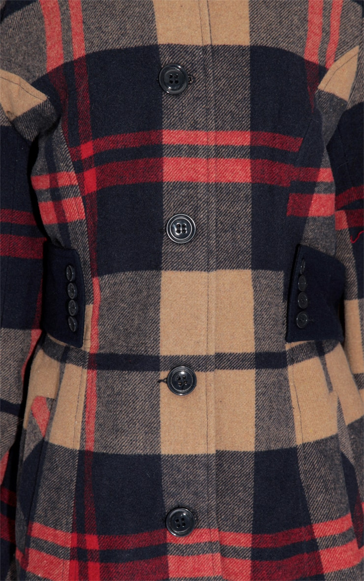 Elise Tailored Tartan Coat 4