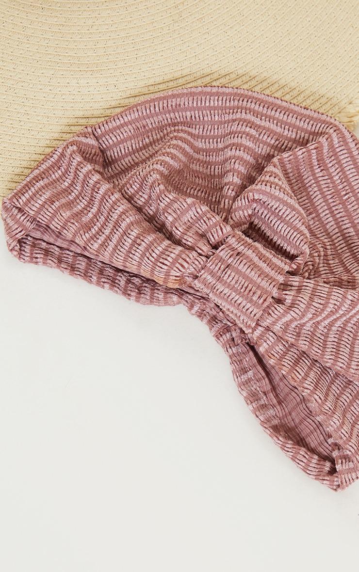 Pink Ribbed Turban 3