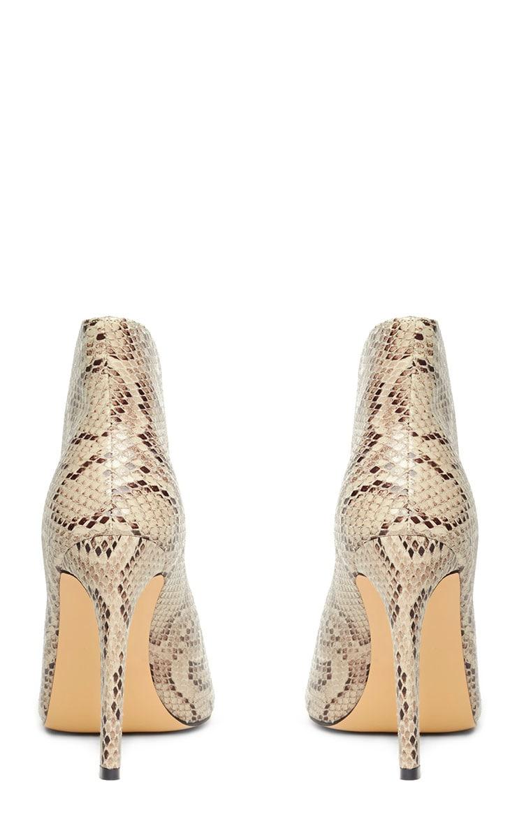 Jazmina Snake Effect Open Front Heels 6