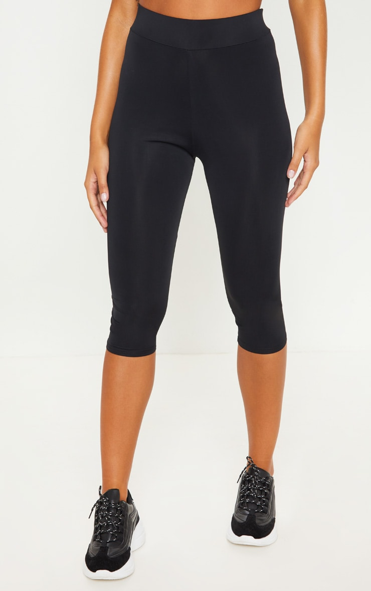 Black Basic Cropped Gym Legging 2