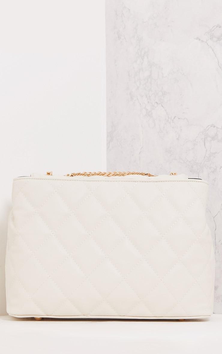 Eriki Beige Padded Twist Lock Bag 3