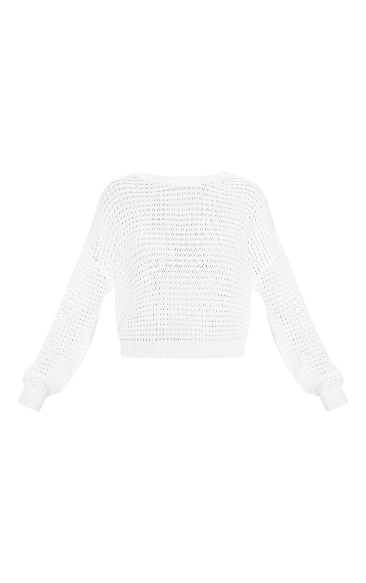 White Fisherman Knitted Jumper 3