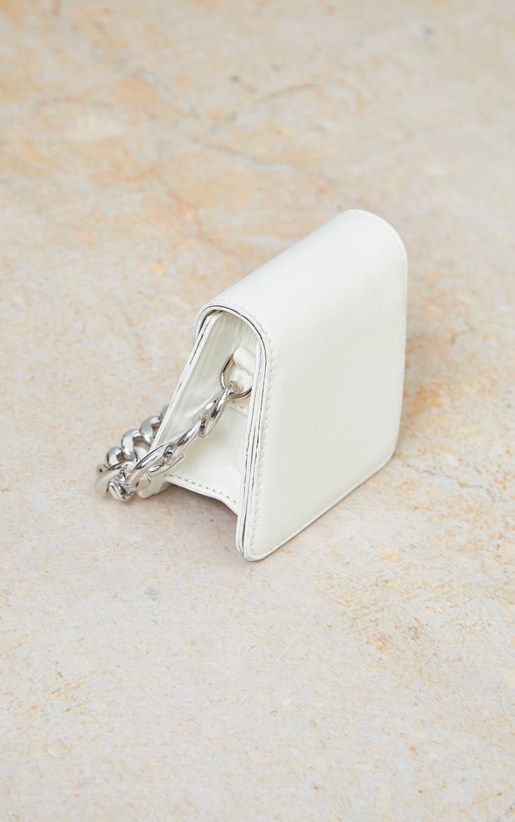 White Pu Silver Chunky Chain Grab Bag 2