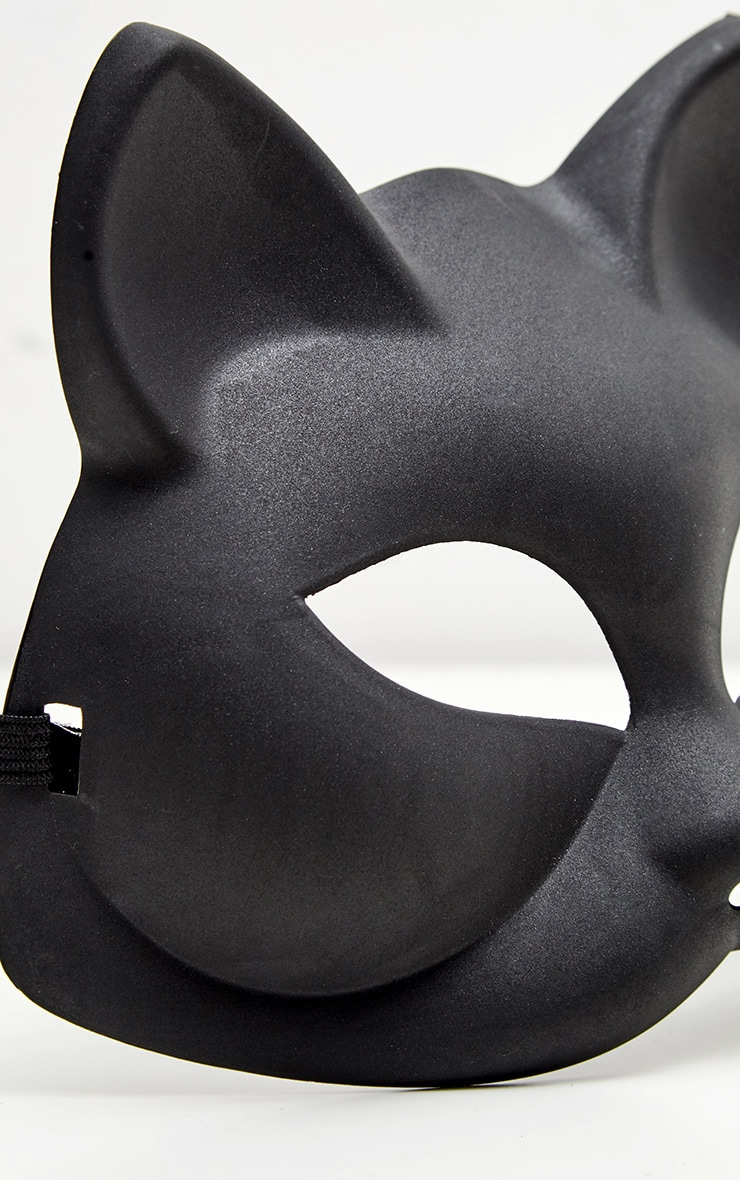 Black Plastic Cat Mask 3