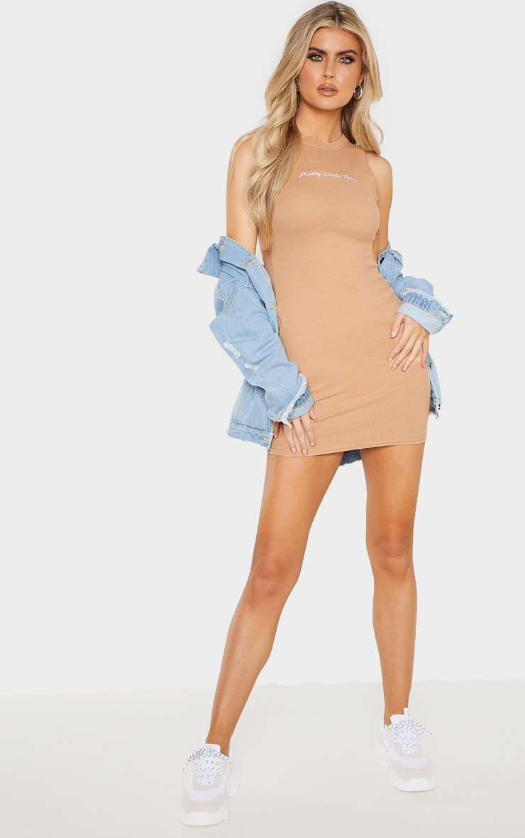 PRETTYLITTLETHING Tall Stone Embroidered Sleeveless Bodycon Dress 4