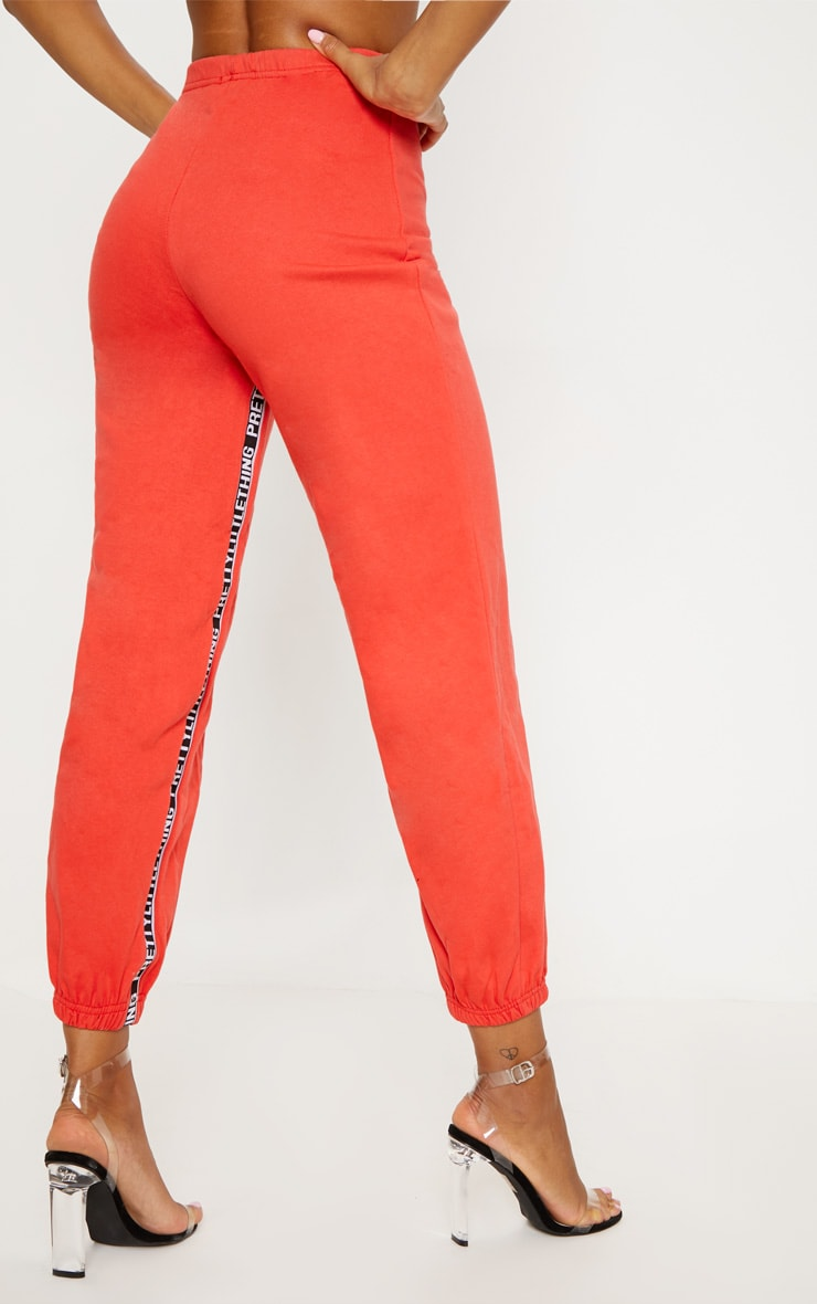PRETTYLITTLETHING Red Joggers 4