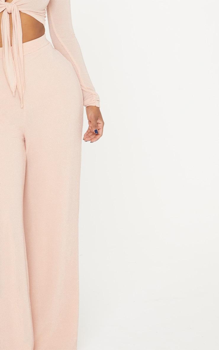 Shape Nude Glitter Wide Leg Trousers 5